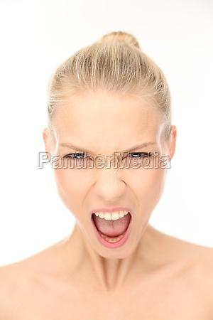 woman screams