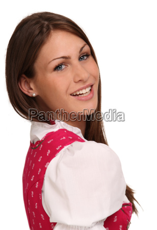 woman in dirndl