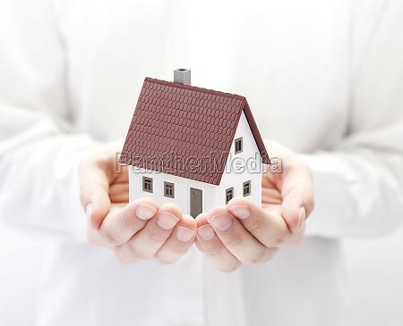 house building hand hands model design