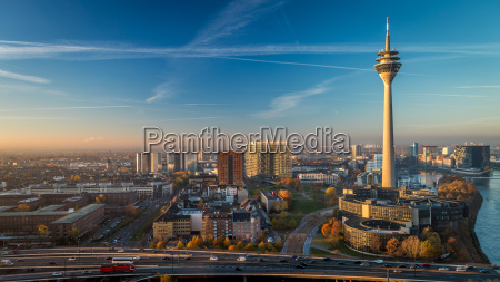 sunrise, television tower, farsightedness, emblem, germany, german federal republic - 12096346