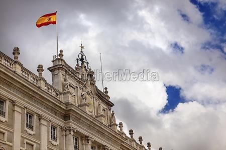 royal palace clouds sky cityscape spanish