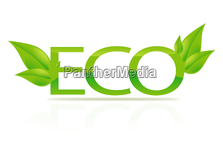 illustration of eco sign