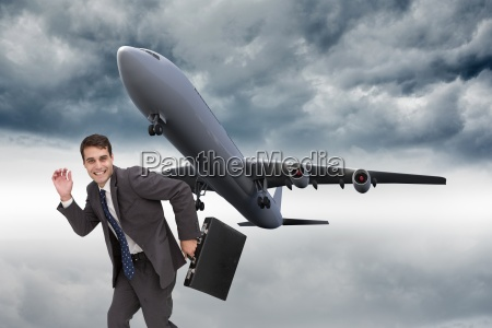 composite image of happy businessman in