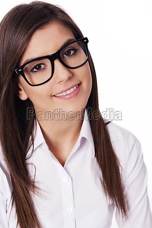portrait of beautiful woman wearing in