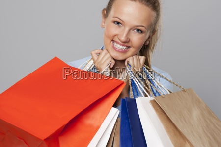 smiling woman with a lot of