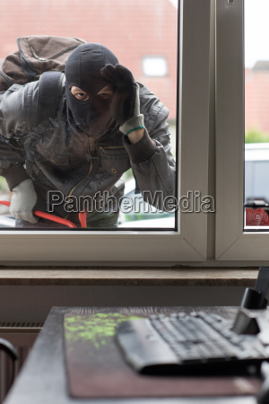 breaking into an office