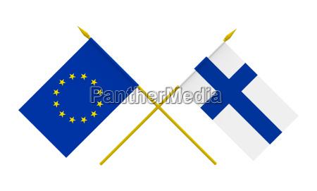 flags finland and european union