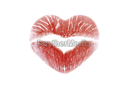lipstick kiss in the form