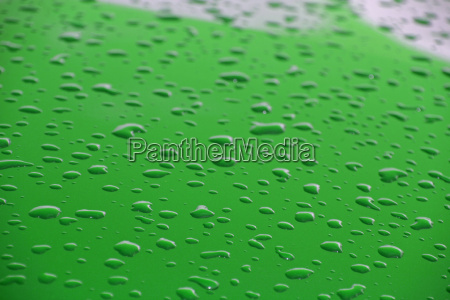 water drops on green coating