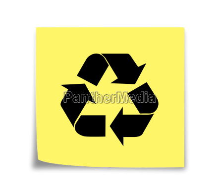 sticky note reminder to recycle