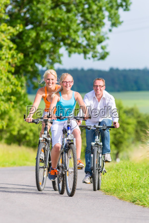 family travel together a weekend bike