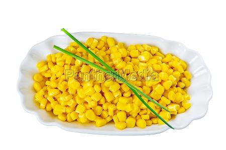 corn in white bowl