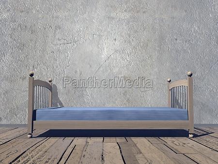 simple bedroom 3d render
