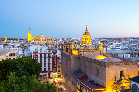 seville cathedral and cityscape spain