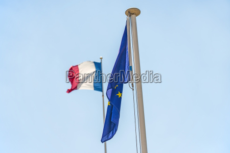 french flag and the european flag