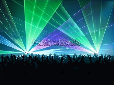 big laser show colored background
