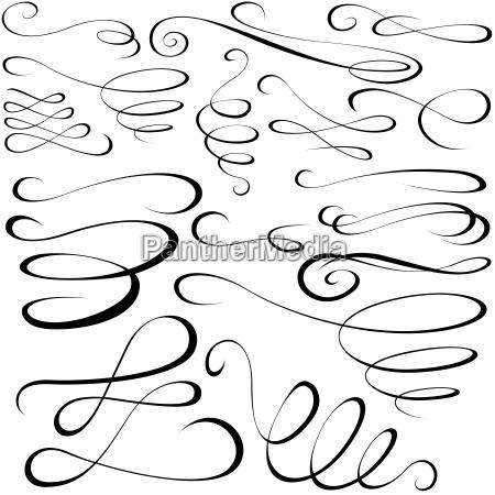 calligraphic elements black design elements