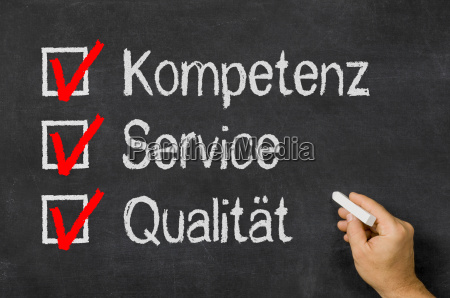 checklist competence service and quality