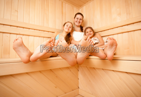 photo of mother and daughters feet