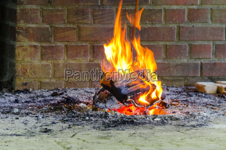fire flames open fireplace