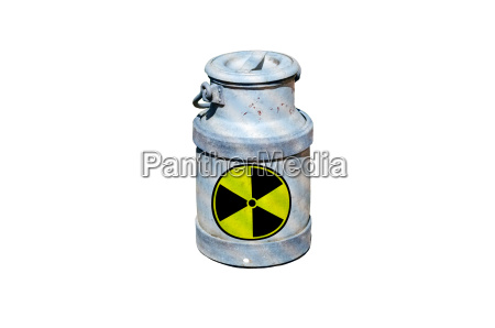 barrel with nuclear waste barrel with