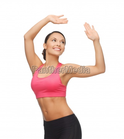 sporty woman in aerobic or dance