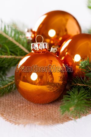 shiny orange glass balls christmas balls