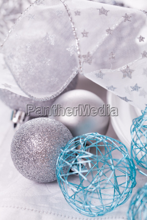 stylish table with christmas decoration in