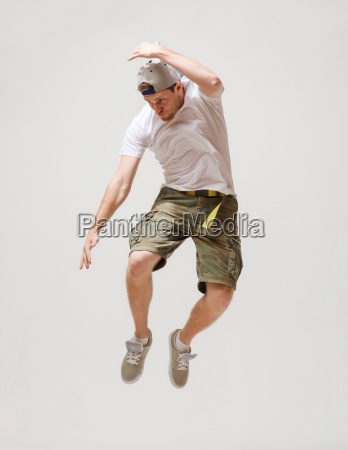 male dancer jumping in the air