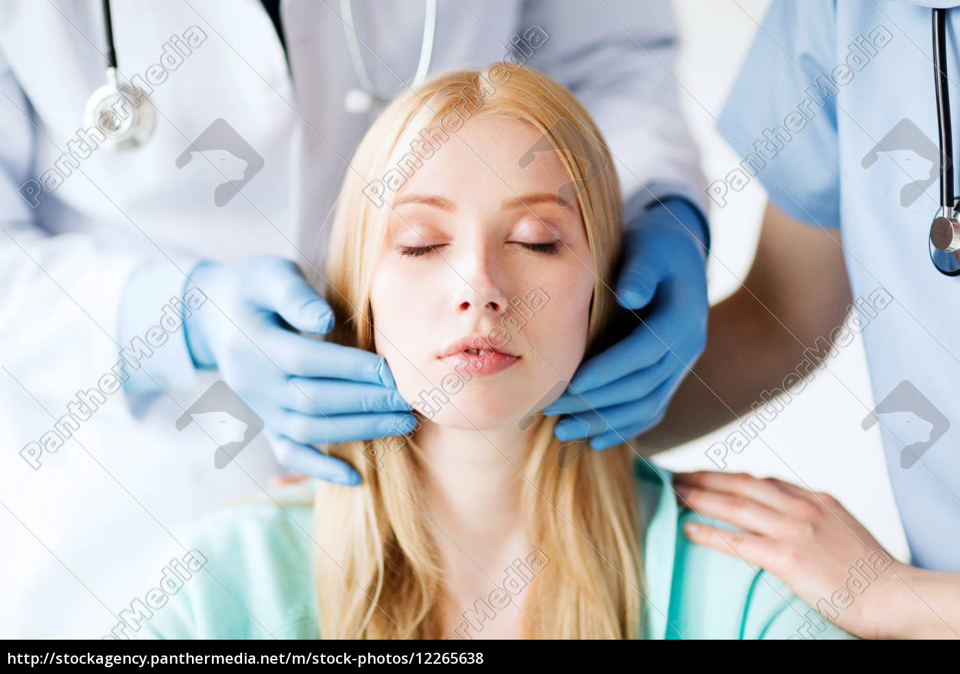 Royalty free image 12265638 - plastic surgeon or doctor with patient