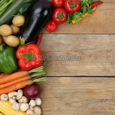 vegetables such as tomatoes and peppers