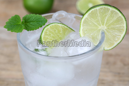 cold mineral water drink in glass
