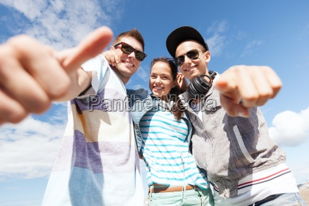 group of teenagers outside