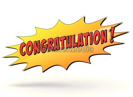 vector congratulation star icon