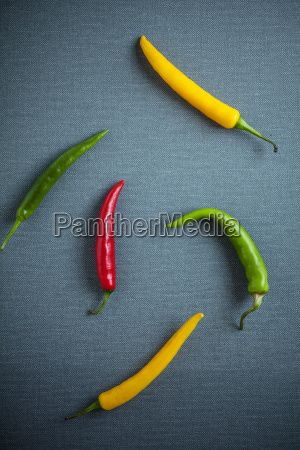 colorful assorted fresh chili peppers