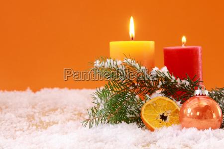 warm orange themed christmas background