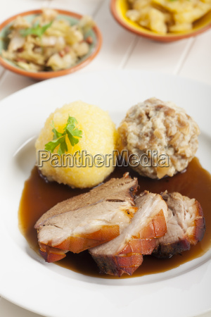bavarian roast pork and beer