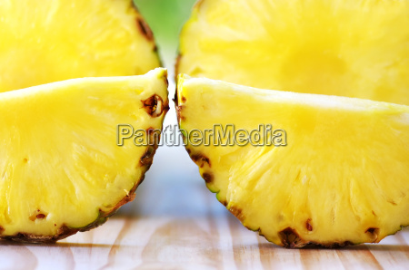 closeup of pineapple slices
