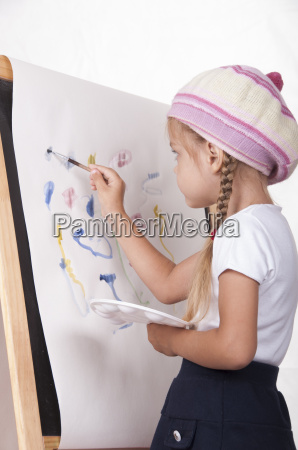 the girl in image of artist