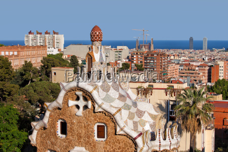 city of barcelona from park guell