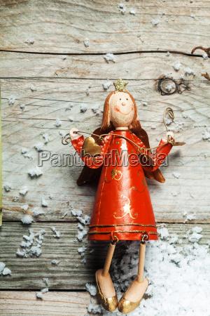 vintage wooden christmas angel