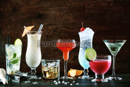 selection of festive christmas drinks
