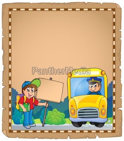 parchment with school bus 3