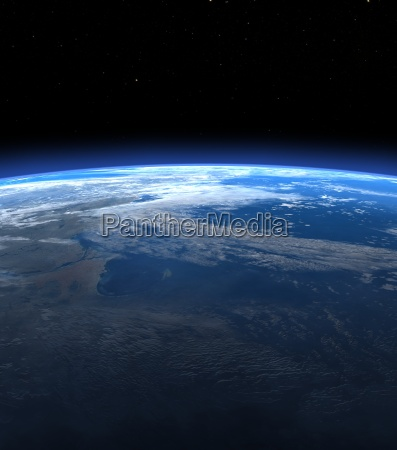 planet earth horizon in space