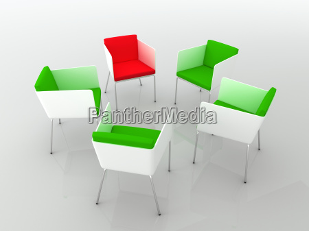 chairs scene 3d high resolution rendering