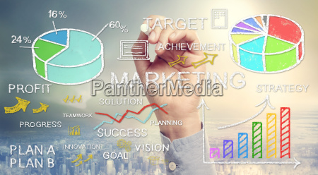 hand drawing business marketing concepts