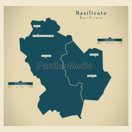 modern map basilicata it