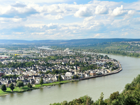 view of koblenz city germany