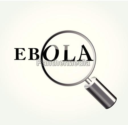 vector ebola virus concept illustration