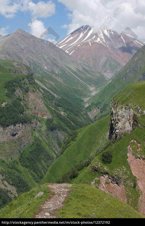 cross, pass, caucasus, georgia, europe - 12372192